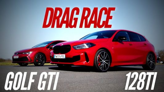 New VW Golf GTI Takes On BMW 128ti in Drag Race