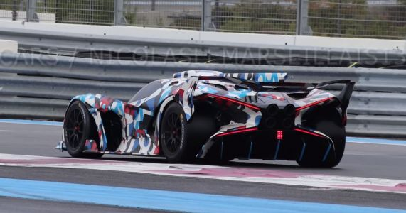 Mystery Bugatti With 'X-Wing' Rear Lights Spotted Testing In France