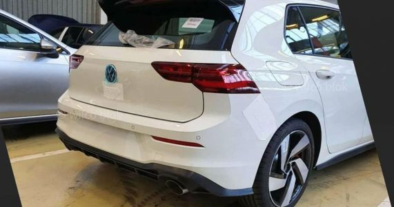 The Mk8 VW Golf GTI Has Been Leaked And It Has A Big Rear Spoiler
