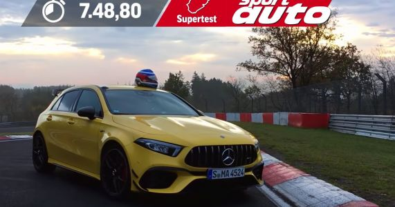Here's A Mercedes-AMG A45 S Smashing Out A 7min 48sec 'Ring Lap