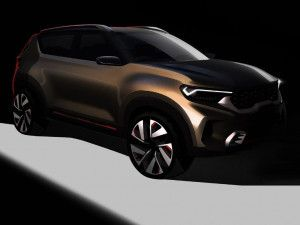 Kia QYI Concept SUV Design Teased In Sketches Debut At Auto Expo 2020