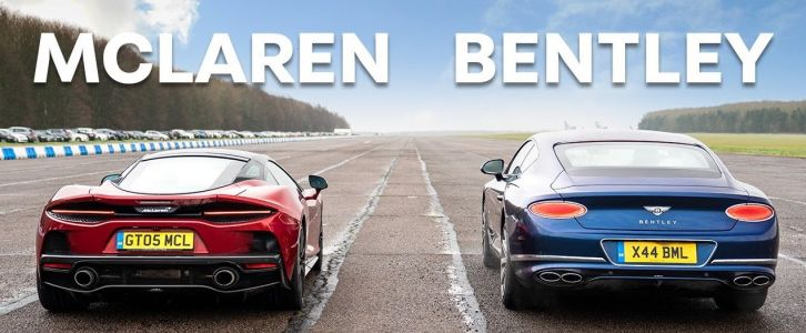 McLaren GT Takes On Bentley Continental GT In a British Drag Race