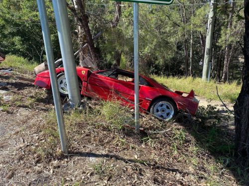Ferrari F40 Crashed In Australia Potentially on Test Drive