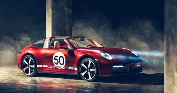 Porsche 911 Targa Heritage Edition Is All Big Numbers And Colourful Leather