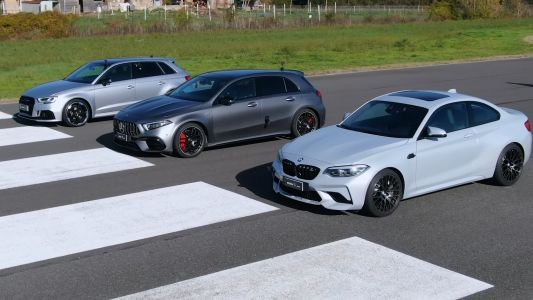 Mercedes-AMG A45 S vs BMW M2 Competition vs Audi RS3 Drag Race