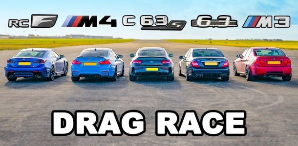 Old Mercedes C63 AMG Is Quicker Than Current One In A Drag Race