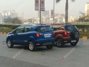 The Ford EcoSports New SE Variant Spied During Commercial Shoot Launch Expected Soon