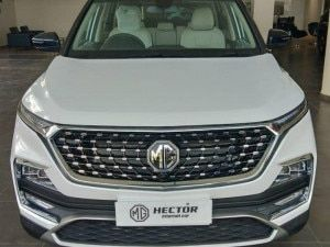 MG Hector Facelift Spotted At Dealership Ahead Of January 7 Launch