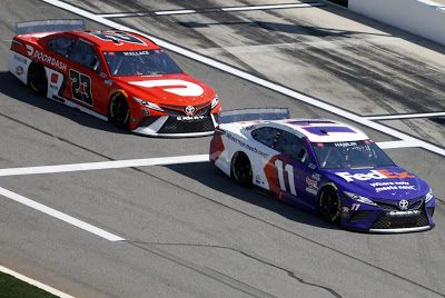 Denny Hamlin is 12/1 to win on Daytona Road Course
