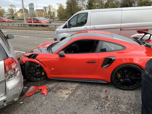 Porsche 911 GT2 RS Crashed One Mile From The Dealership in Wales