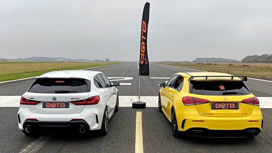 BMW M135i xDrive Consistently Beats Mercedes-AMG A35 in a Drag Race