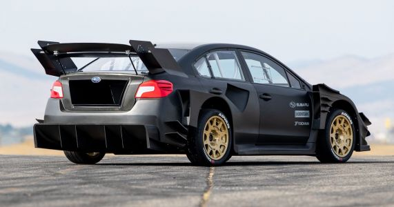 This Naked Carbon Subaru WRX STI Is Travis Pastrana's Gymkhana Beast