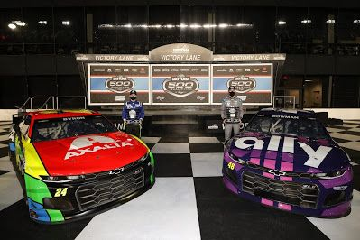 Alex Bowman and William Byron qualify on the front row of the 2021 Daytona 500