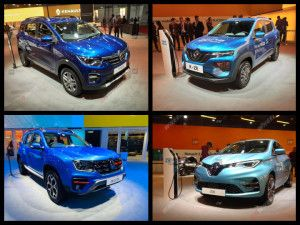 Renault At Auto Expo 2020 Triber AMT Kwid K-ZE Zoe EV Electric Cars and Duster Turbo Showcased