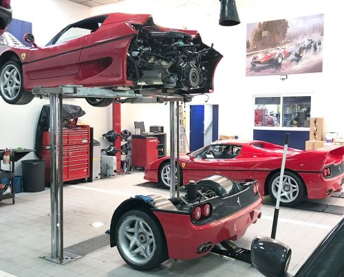 Replacing The Clutch On a Ferrari F50 Means Removing The Entire Rear