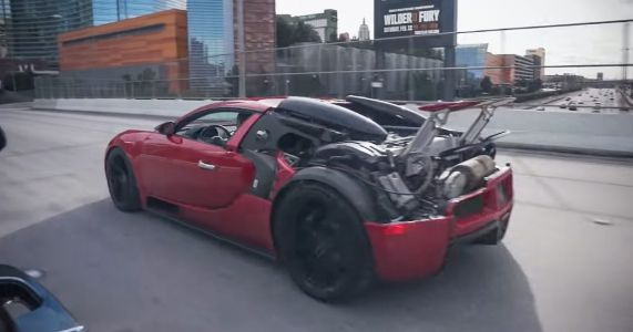 Here's How A Half-Naked Bugatti Veyron Looks And Sounds