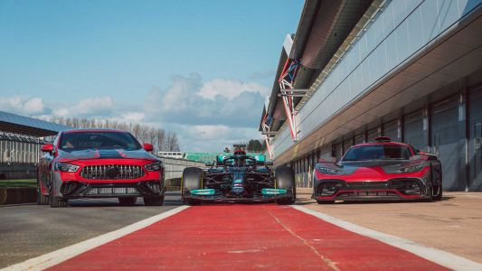 Mercedes-AMG GT 73e Teased Alongside New F1 Car and One Hypercar