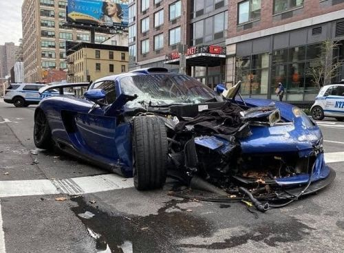 Porsche Gemballa Mirage GT Crashes in New York and Tries To Leave The Scene