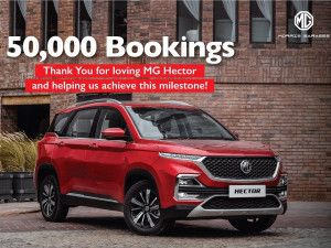 MG Hector Crosses 50000 Bookings Rivals Kia Seltos Hyundai Creta And Tata Harrier