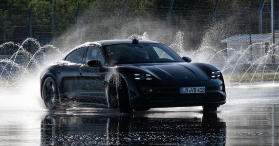 The Porsche Taycan Has Set A Record For The Longest EV Drift