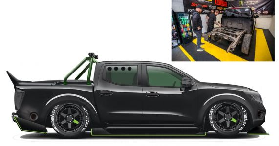 A Nissan Navara Is Being Turned Into A 1000bhp Franken-GT-R Missile