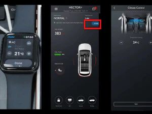 MG Hector Gets Apple Watch Climate Control Feature