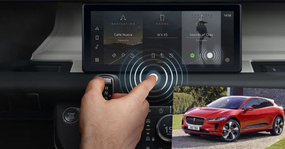Jaguar Land Rover Has Helped Develop A Contactless Touch-Screen