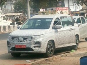 MG Hector Facelift Spied Testing In India Expected To Launch In 2021