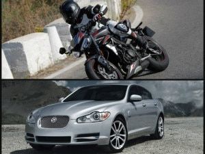 Would You Rather Buy A New Triumph Street Triple RS Or A Used Jaguar XF