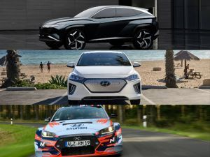 Hyundai At 2019 LA Auto Show 2020 IONIQ Hyundai Vision T Concept SUV And RM19 Prototype Race Car Unveiled