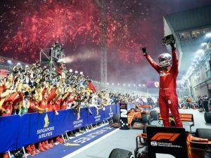 Sebastian Vettel Takes A Ferrari 1-2 In Singapore GP