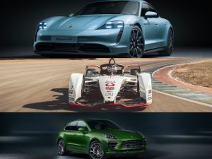 Porsche At 2019 LA Auto Show Taycan 4S EV Macan Turbo SUV And 99X Electric Race Car Shown