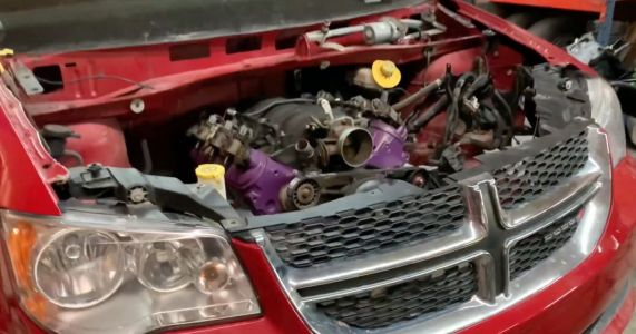 This Hero Is Putting A Turbocharged LS V8 In A Dodge Grand Caravan