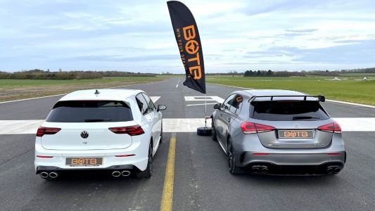 New VW Golf R Nearly Beats Mighty Mercedes-AMG A 45 S In a Drag Race